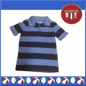 Boys Jumping Beans Blue and Black Striped Shirt